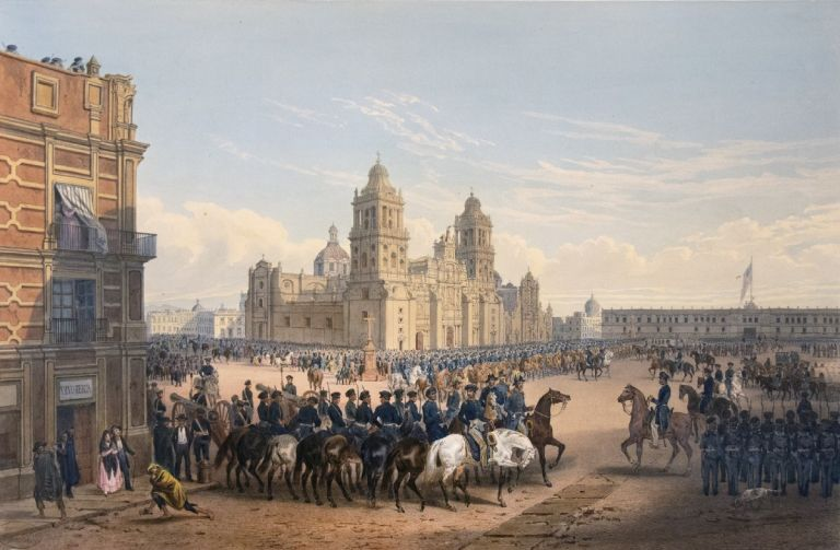 GENERAL SCOTT'S ENTRANCE INTO MEXICO. FROM THE ALBUM: THE WAR BETWEEN THE UNITED STATES AND MEXICO. George Kendall, Carl Nebel.